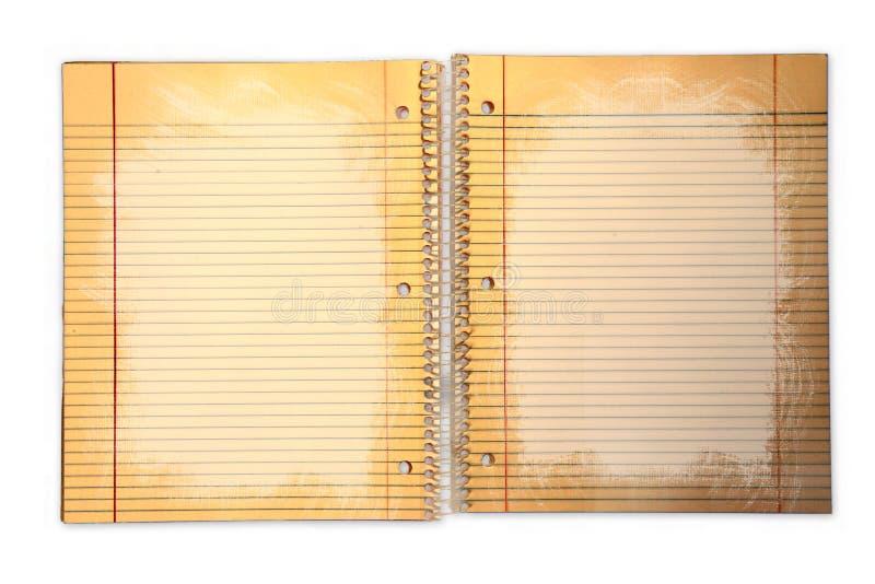segregatoru brudna prążkowana papieru szkoła zdjęcia stock