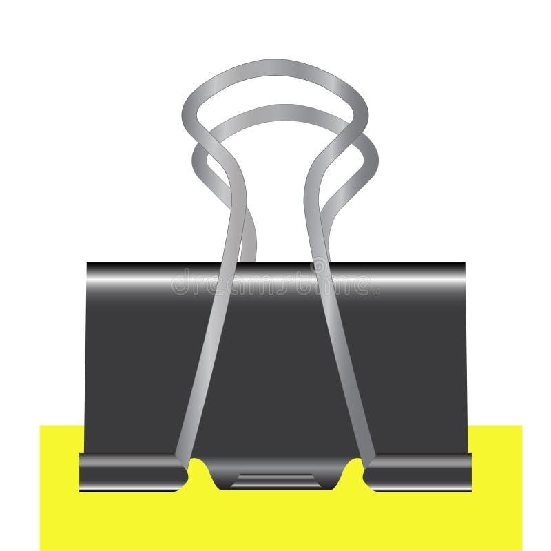 Segregatoru czerń z żółtym liściem odizolowywającym na białej tło wektoru ilustraci royalty ilustracja