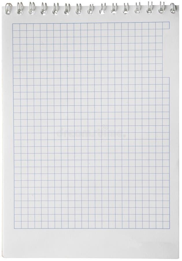 segregatoru pusty notatnika strony papieru kwadrat obraz stock