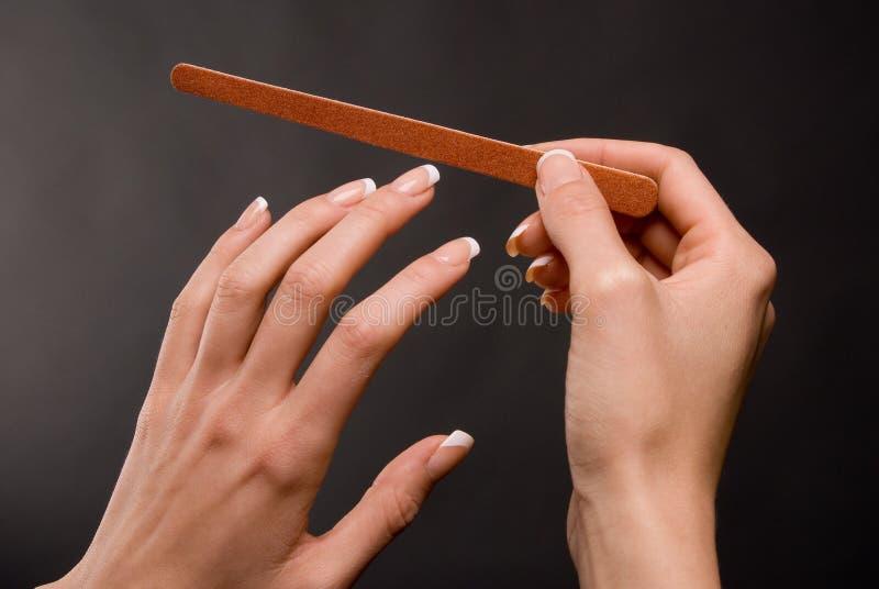 segregowanie żeńscy gwoździe obraz stock