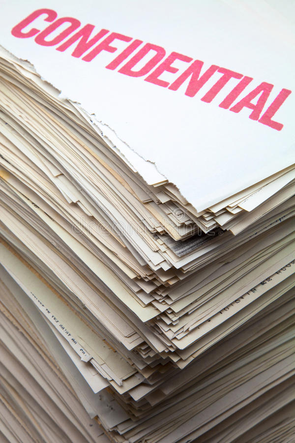 Segregujący dokumenty obrazy royalty free