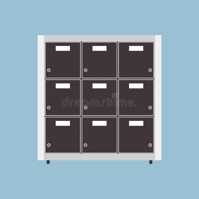 Segreguje archiwum ikony biznesowego dokumentu falcówki wektorowych dane Odosobniony składowy biuro Organizuje segregatoru katalo ilustracja wektor