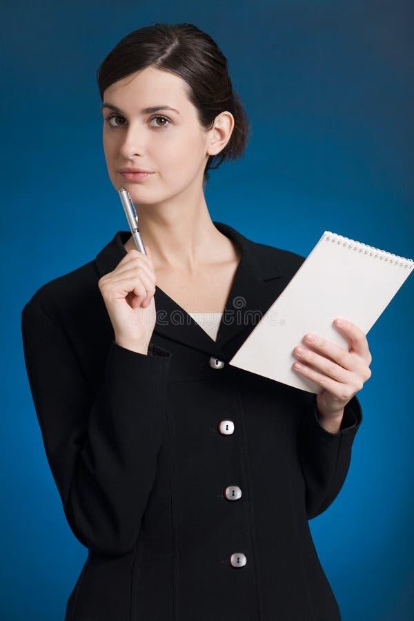 Segretaria o donna di affari fotografia stock