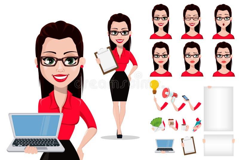 Segretario in vestiti di stile dell'ufficio royalty illustrazione gratis