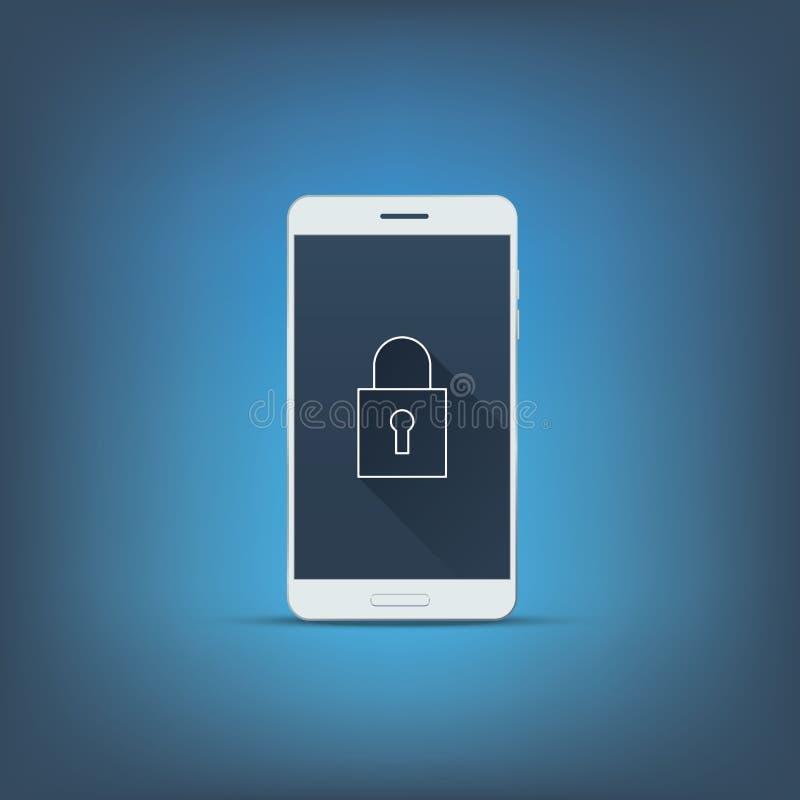 Segretezza di dati e concetto di sicurezza del telefono cellulare royalty illustrazione gratis
