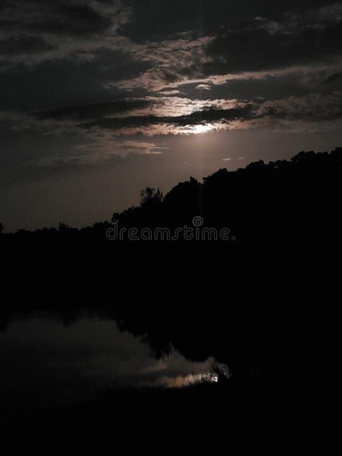 Segreti di luci della luna fotografia stock
