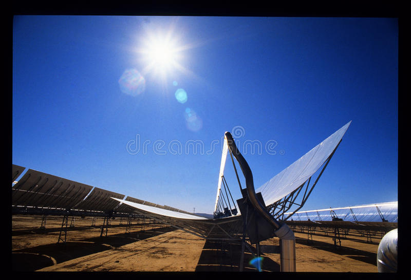 SEGS-II Southern California Edison Solar Power Plant royalty free stock image