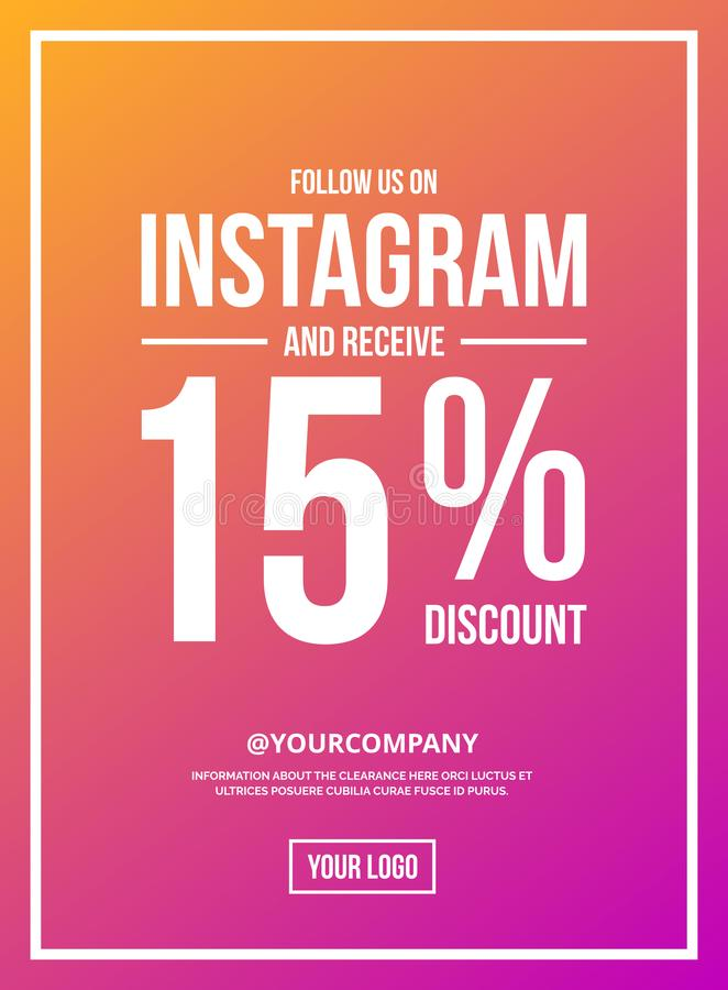 Seguaci sul manifesto del segno di Instagram illustrazione vettoriale