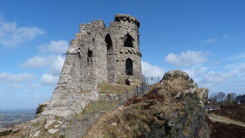 Segue o castelo Cheshire England da bobina imagens de stock