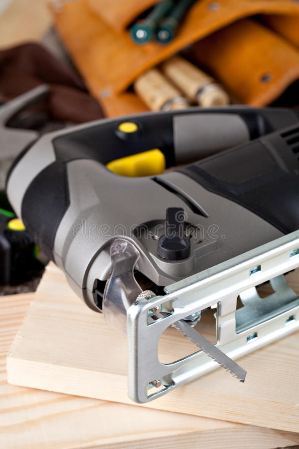 Segueta eléctrica fotografía de archivo libre de regalías