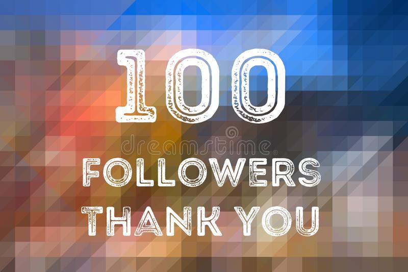 100 seguidores fotografia de stock
