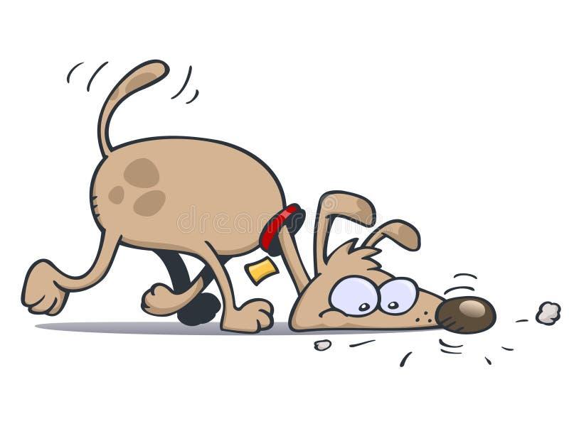 Seguimento do cão ilustração stock