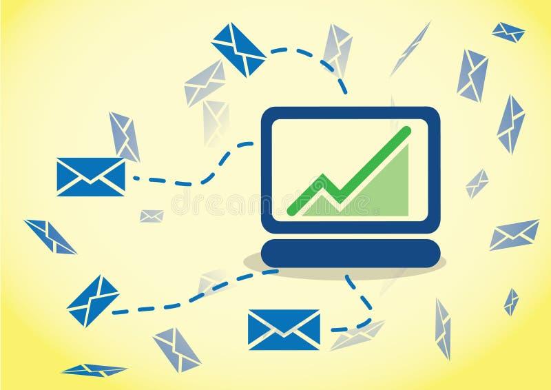 Seguimento do email do comportamento ilustração stock