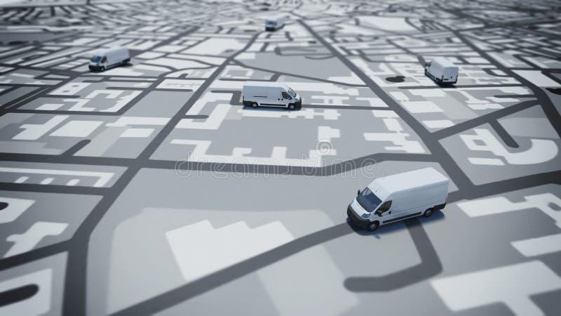 Seguimiento de GPS stock de ilustración