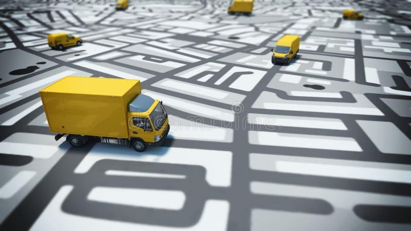Seguimiento de GPS ilustración del vector