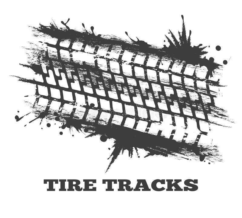 Seguimiento del neumático del fango ilustración del vector