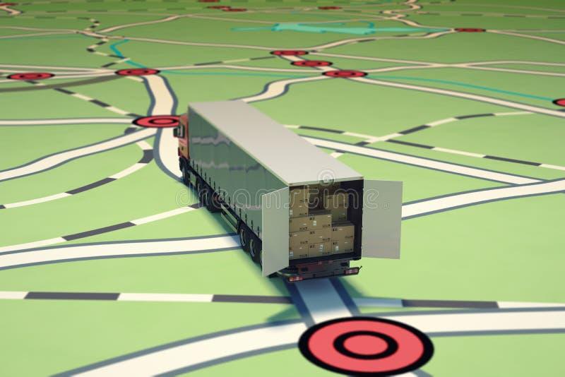 Seguimiento y envío de GPS representación 3d libre illustration