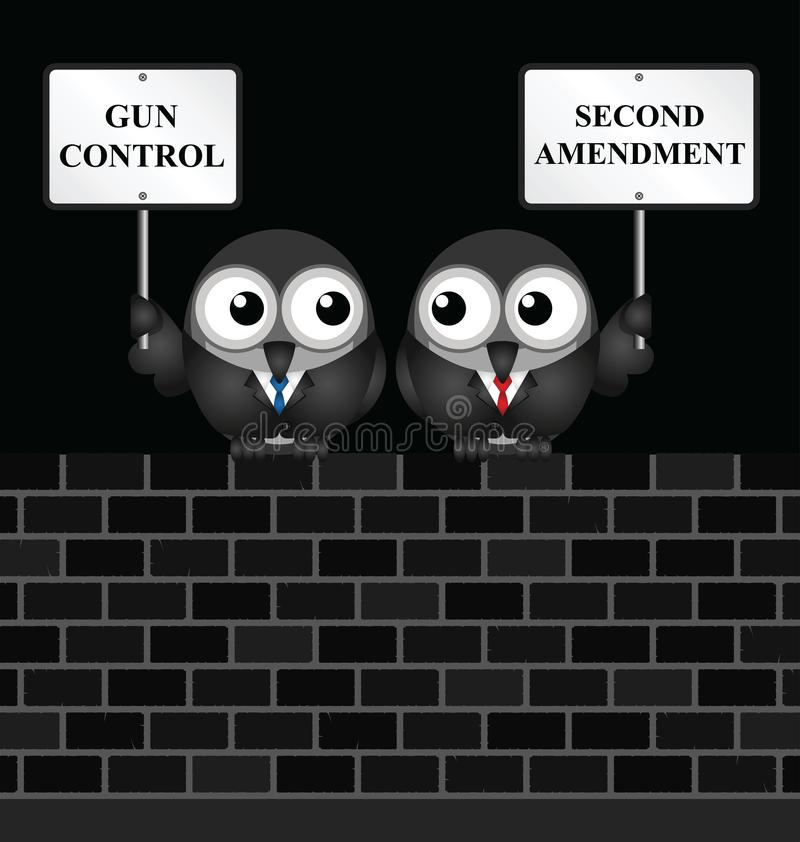 Segunda emenda ilustração do vetor