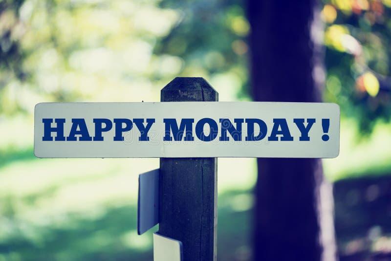 Segunda-feira feliz fotografia de stock