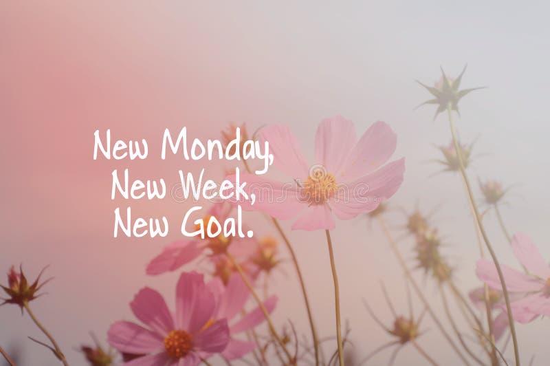 Segunda-feira nova, semana nova, objetivo novo foto de stock royalty free