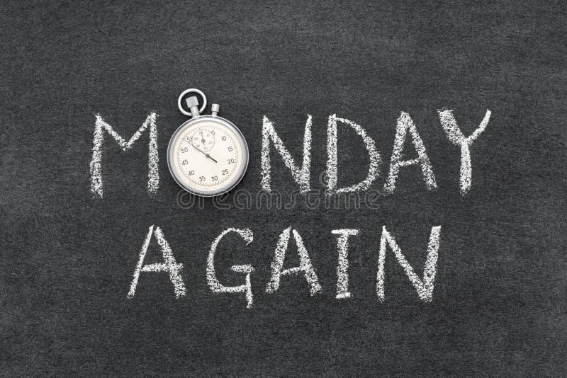 Segunda-feira outra vez fotos de stock