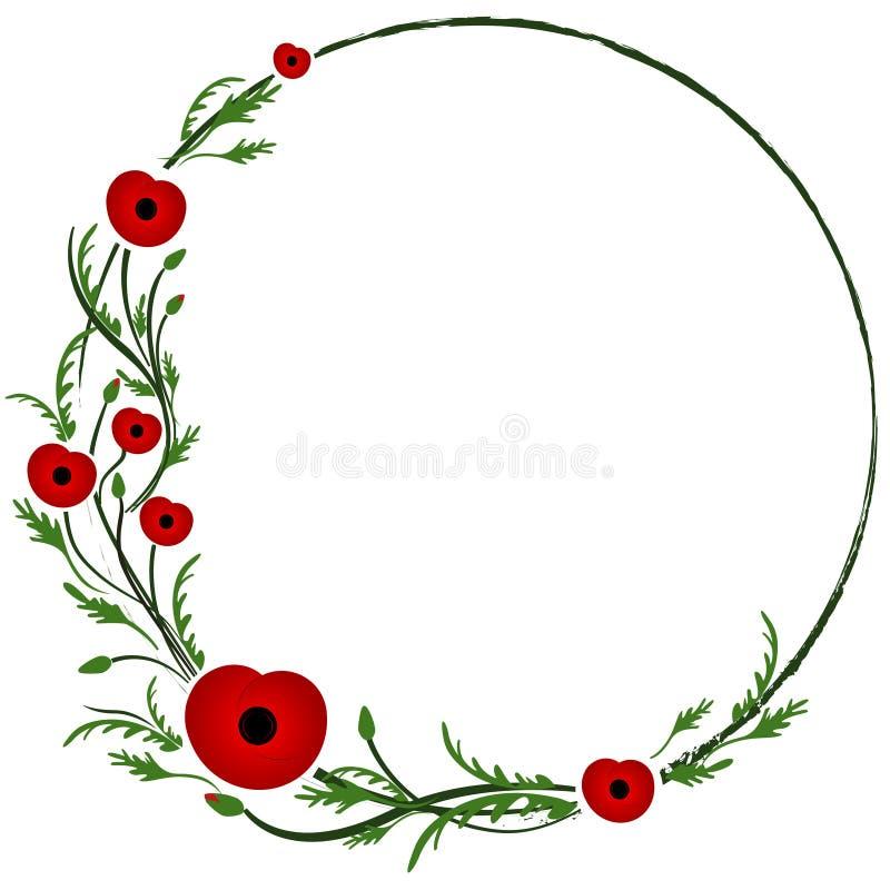Segunda Guerra Mundial, símbolo conmemorativo Amapola roja libre illustration