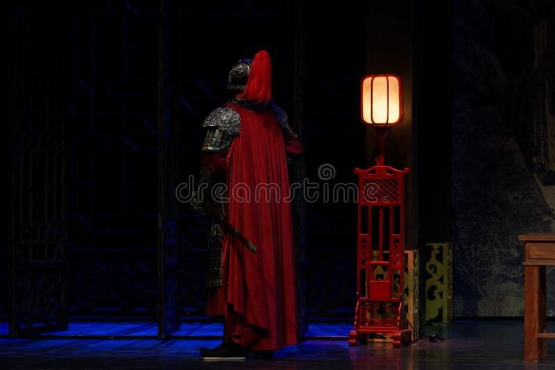 Segundo acto general-: la noche del drama histórico ejército-grande, ` Yangming ` de tres noches imagen de archivo libre de regalías