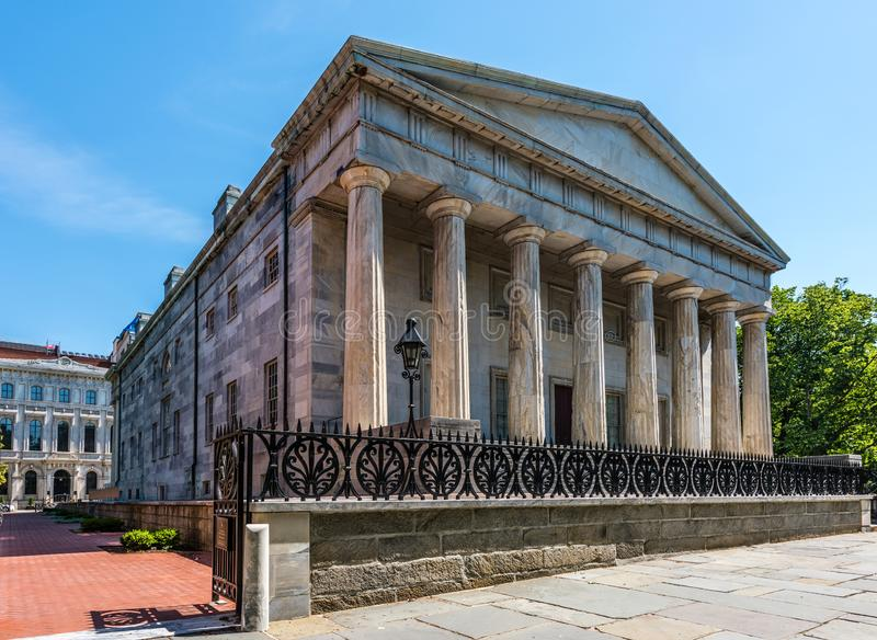 Segundo banco do Estados Unidos em Philadelphfia foto de stock