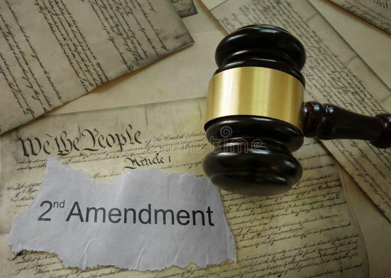 Segundo concepto de la enmienda fotos de archivo