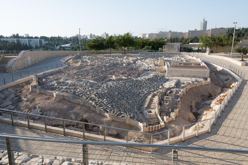 Segundo modelo do templo do Jerusalém foto de stock royalty free