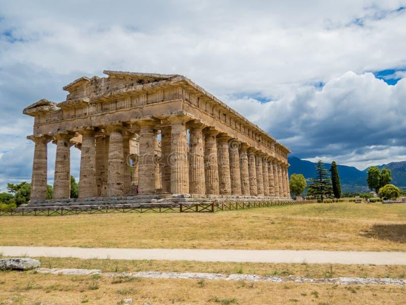 Segundo templo de Hera, Paestum imágenes de archivo libres de regalías