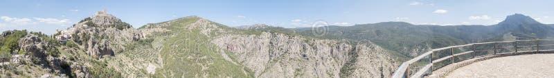 Segura de la Sierra panoramic view, Jaen, Spain stock photos