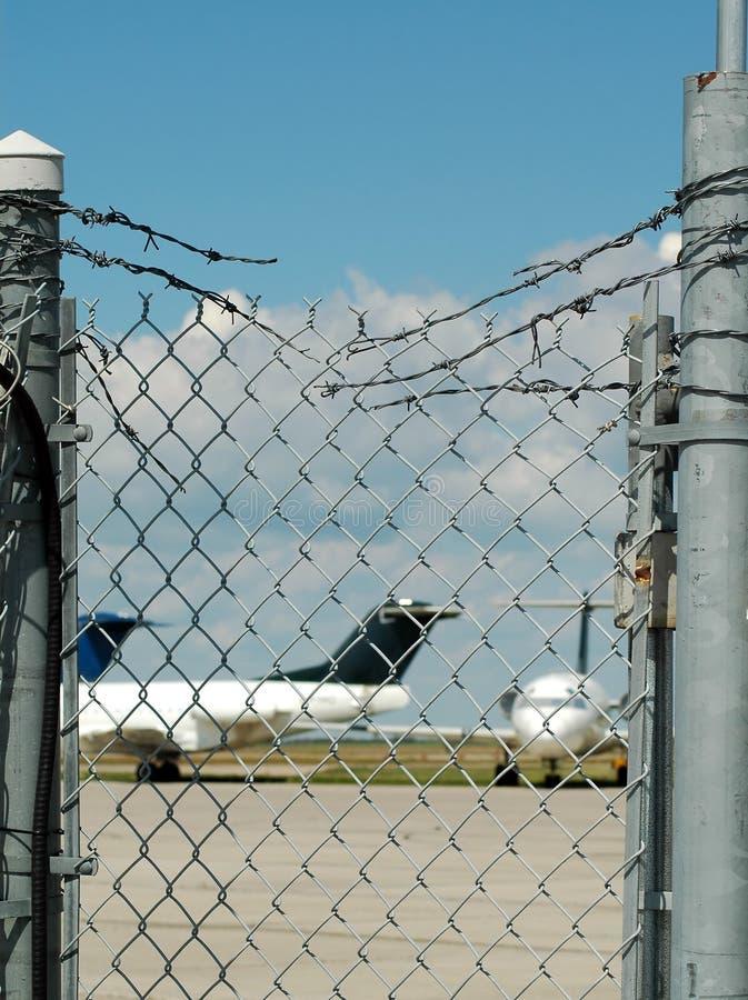 Segurança aeroportuária fotografia de stock