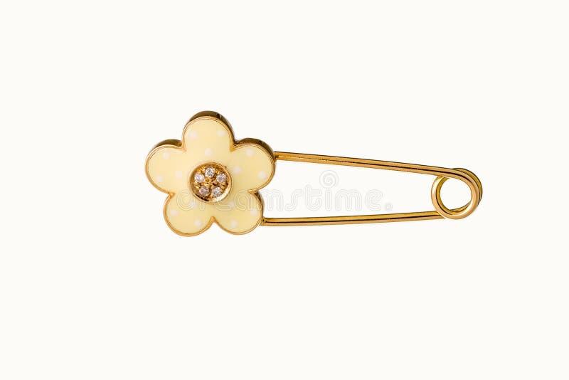 Segurança bonito bonita Pin Brooch Jewelry do bebê & da criança com o saf ilustração stock