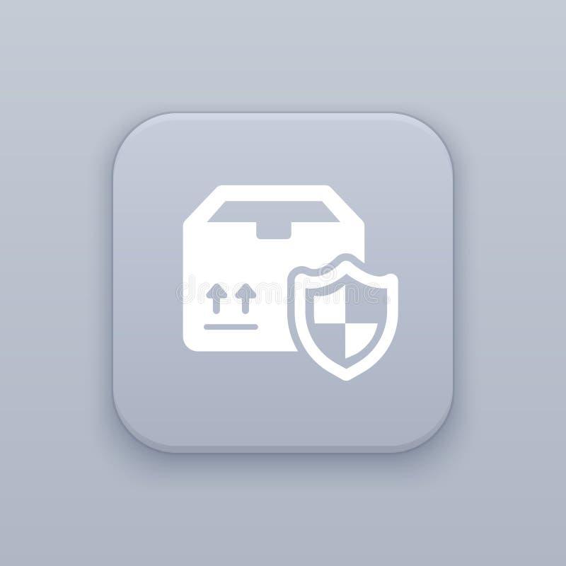 Segurança, botão da entrega, o melhor vetor ilustração royalty free