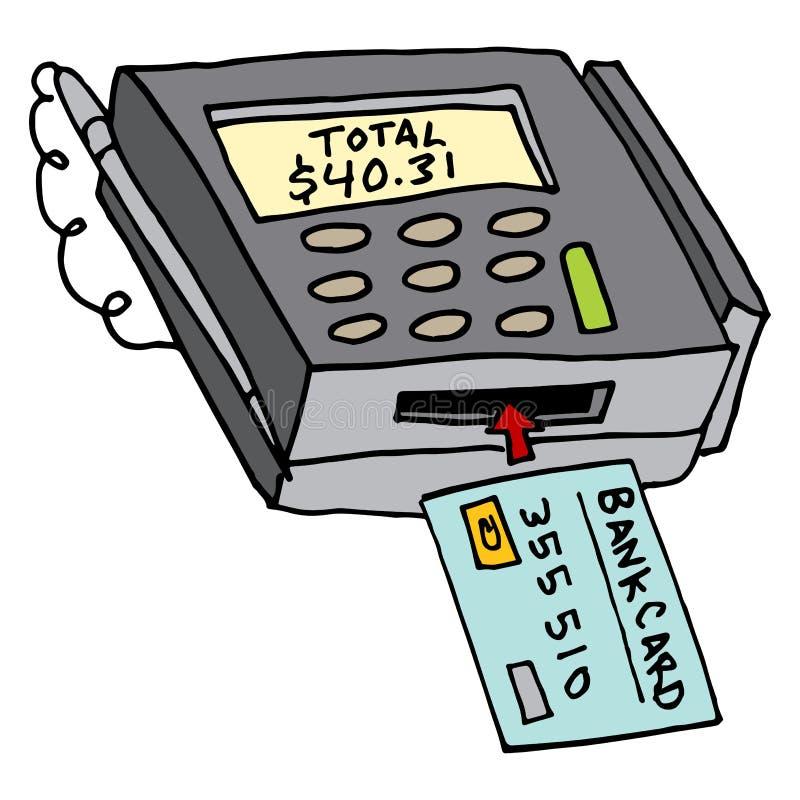 Segurança Chip Credit Card Machine ilustração stock