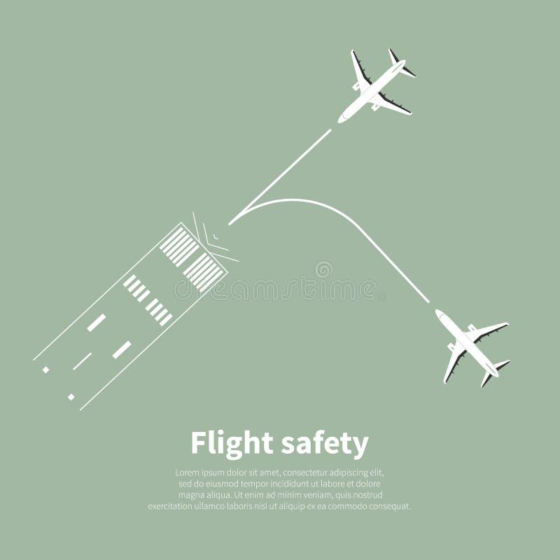 Segurança da aviação ilustração royalty free