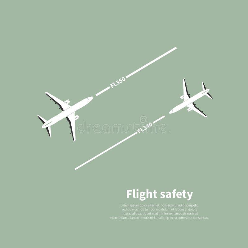 Segurança da aviação ilustração do vetor