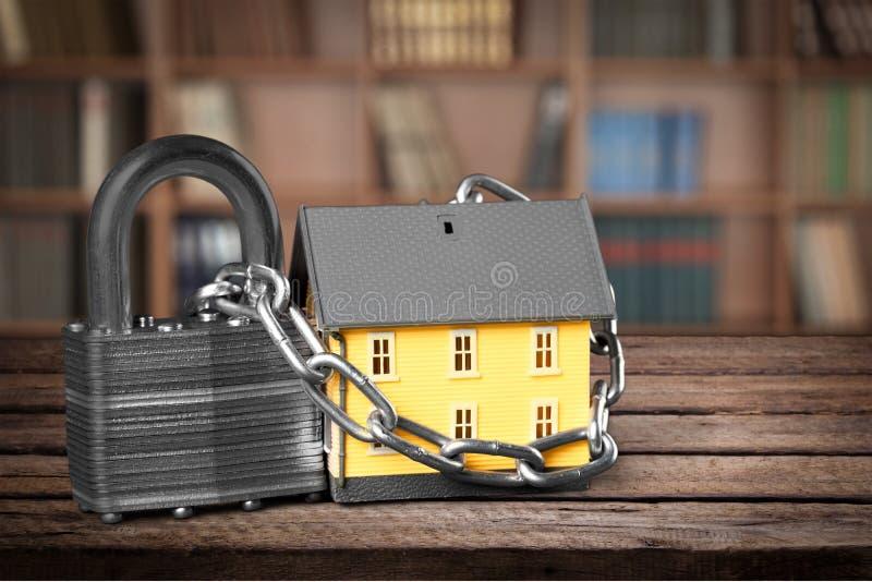 Segurança da casa fotografia de stock