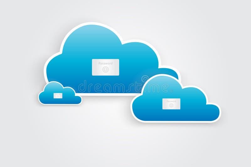 Segurança da nuvem ilustração do vetor