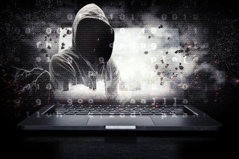Segurança da rede e crime de computador Meios mistos imagem de stock