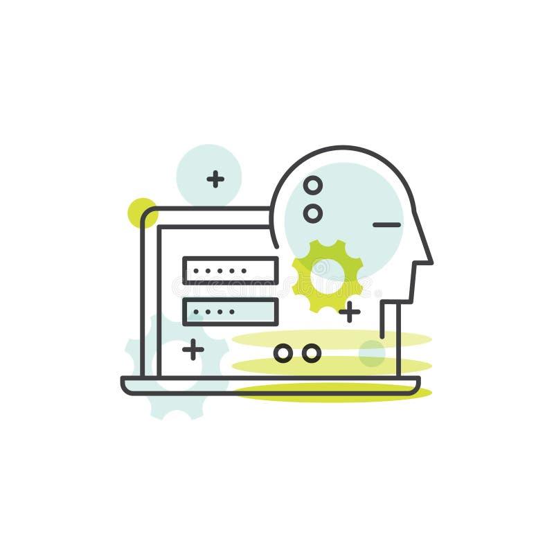 A segurança de Cuber, acesso seguro, pagamento, início de uma sessão, cifrou uma comunicação, a proteção da rede e a privacidade ilustração stock