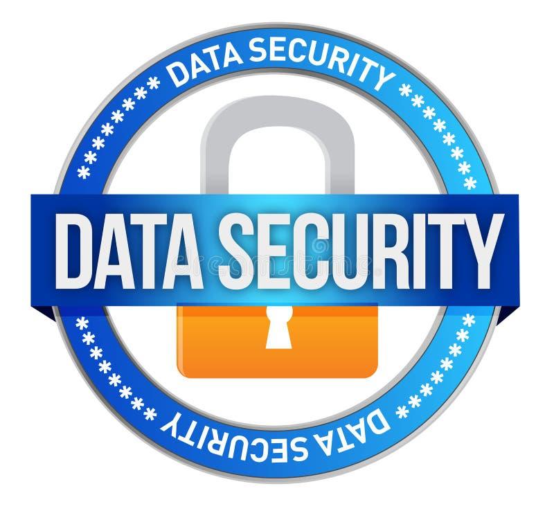 Segurança de dados ilustração royalty free