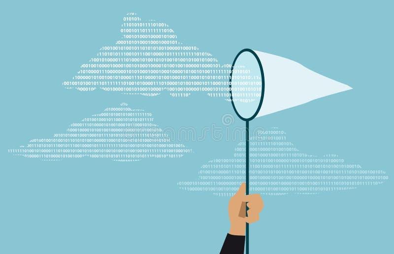 Segurança de dados da nuvem ilustração do vetor