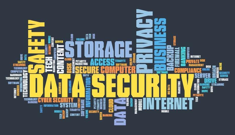 Segurança do armazenamento de dados  ilustração stock