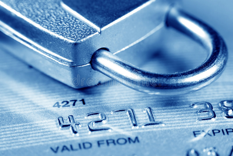 Segurança do cartão de crédito fotos de stock