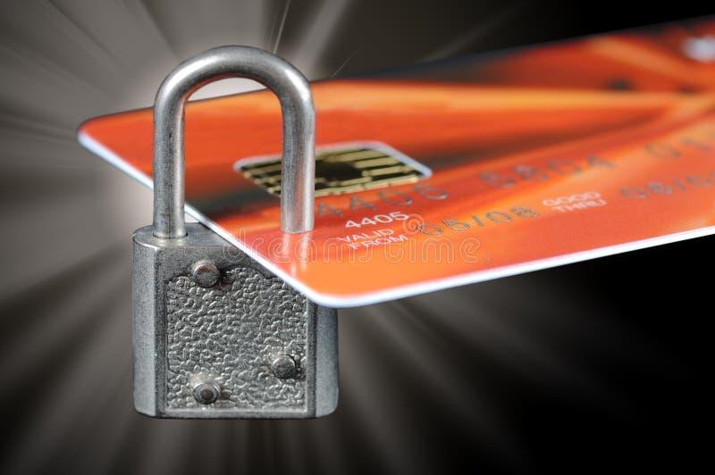 Segurança do cartão de crédito imagens de stock royalty free