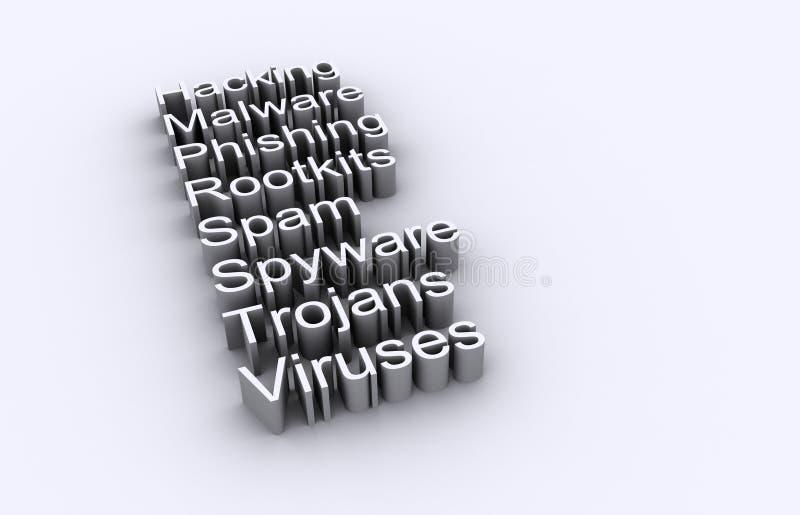 Segurança do computador e da rede ilustração stock