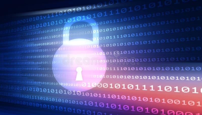 Segurança do Cyber ilustração do vetor