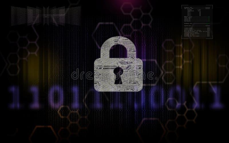 Segurança 3 do Cyber foto de stock royalty free